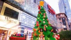 레고로 만든 크리스마스트리(사진,