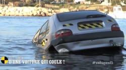 Comment sortir d'une voiture qui coule