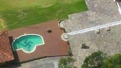 Πελώρια σβάστικα σε πισίνα βίλας στην