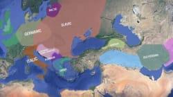 Η εξέλιξη των ευρωπαϊκών γλωσσών σε έναν διαδραστικό
