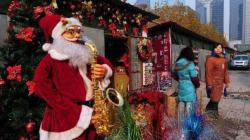 En Chine, le Père Noël plus connu que