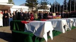 Les dépouilles des victimes algériennes