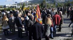 Συγκέντρωση κατά των διοδίων στη Βαρυμπόμπη, με τη Ρένα