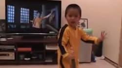 이소룡을 사랑하는 꼬마의 쌍절곤