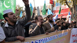 Des milliers de manifestants à Karachi, au Pakistan, contre Charlie