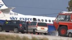Αεροσκάφος στη Ρόδο παρασύρεται από τον άνεμο και κινδυνεύει να πέσει στη