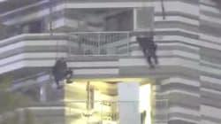 도쿄 특수부대가 아파트에 진입하는