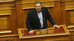 Σύγκρουση Καμμένου - Θεοδωράκη στη Βουλή για την ΕΡΤ - Ένταση και με