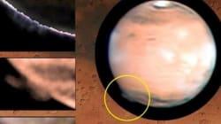 화성 상공에 거대한 미스터리 연무가