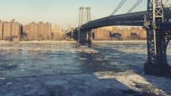 New-York paralysée par le froid offre des paysages