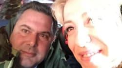 Selfie με την Ρένα Δούρου έβγαλε ο Πάνος Καμμένος «πετώντας» για τα