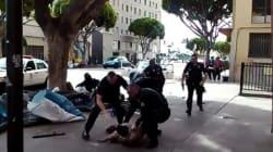 LA 경찰 총기에 남성