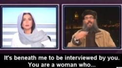 지하디스트로부터 닥치라는 말을 들은 레바논 여성 앵커의