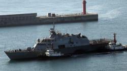 미국 연안 전투함 포트워스함 부산