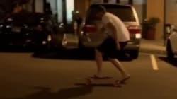 술 마시고 스케이트보드를 타면 안 되는