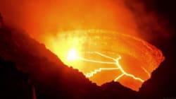 하와이 킬라우에아 화산 속 '불타는 지구의 혈액'을 타임랩스 동영상에