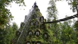 Un hôtel construit dans un volcan