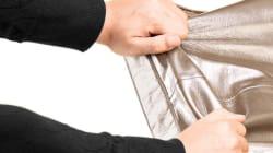 아내는 가리고 남편은 훔치고, 생활고에 식당서 가방