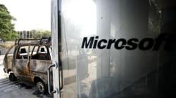 Ανάληψη ευθύνης για την εμπρηστική επίθεση κατά της Microsoft στο