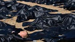 Des militants d'Amnesty dans des sacs mortuaires pour dénoncer les