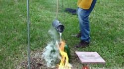 Mettre de l'aluminium fondu dans une pastèque donne un résultat