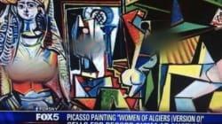 폭스 뉴스, 피카소 그림 속 나체에 블러
