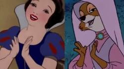 과거 디즈니의 주인공은 모두 똑같은 춤을