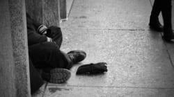 어느 외국인 노숙자의 쓸쓸한