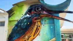 Ce street-artiste peint des animaux à partir des déchets métalliques