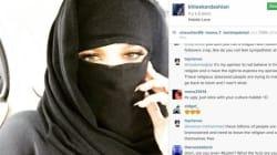 Le selfie de Khloé Kardashian en niqab choque la