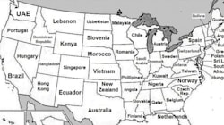 Ένας διαφορετικός χάρτης των ΗΠΑ: Σε κάθε Πολιτεία η χώρα με το αντίστοιχο