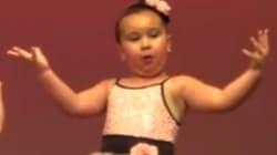 무대를 사로잡은 6살 소녀 댄서의 강렬한