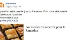 Marmiton reçoit une flopée d'insultes pour avoir souhaité un bon ramadan à tous sur