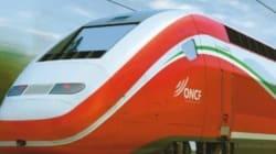 La première rame de TGV arrive au port de