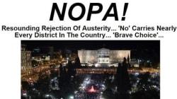 Όταν οι Έλληνες είπαν «NOPA!» στη λιτότητα: Το εξώφυλλο της HuffPost Αμερικής μετά το