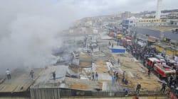 Un incendie détruit une partie du marché de Dergana à