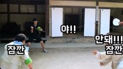 한국민속촌에서 난데없는 '수박' 인질극이