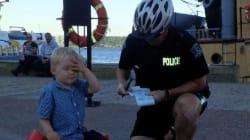 Καναδός αστυφύλακας έκοψε κλήση σε 3χρονο αγοράκι για «αδίστακτη