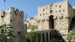 La citadelle d'Alep endommagée par une