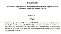 Το πολυνομοσχέδιο που «ανοίγει» τις διαπραγματεύσεις για το νέο δάνειο: Αναλυτικά όλα τα