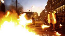 Échauffourées devant le Parlement grec au début du débat