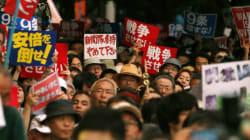 [화보] 집단자위권 날치기에 분노하는 일본