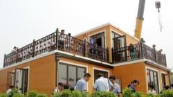 Cette villa chinoise a été assemblée en moins de 3