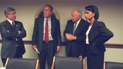 Des photos inédites montrent l'administration Bush le 11 septembre