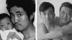 Un père et son fils prennent la même photo pendant 27 ans