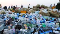 해운대 피서객들이 버린 쓰레기, 하루 평균