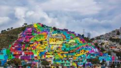 A Palmitas, plus de 200 maisons ont servi de toiles à des artistes de