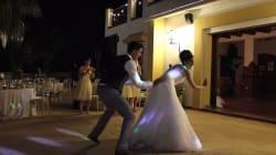 어느 신혼부부의 6분에 걸친 댄스