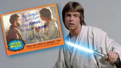 Luke Skywalker a beaucoup d'humour quand il signe un
