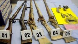 Deux personnes en possession d'armes à feu artisanales arrêtées à